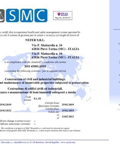 ISO 45001 NEFER